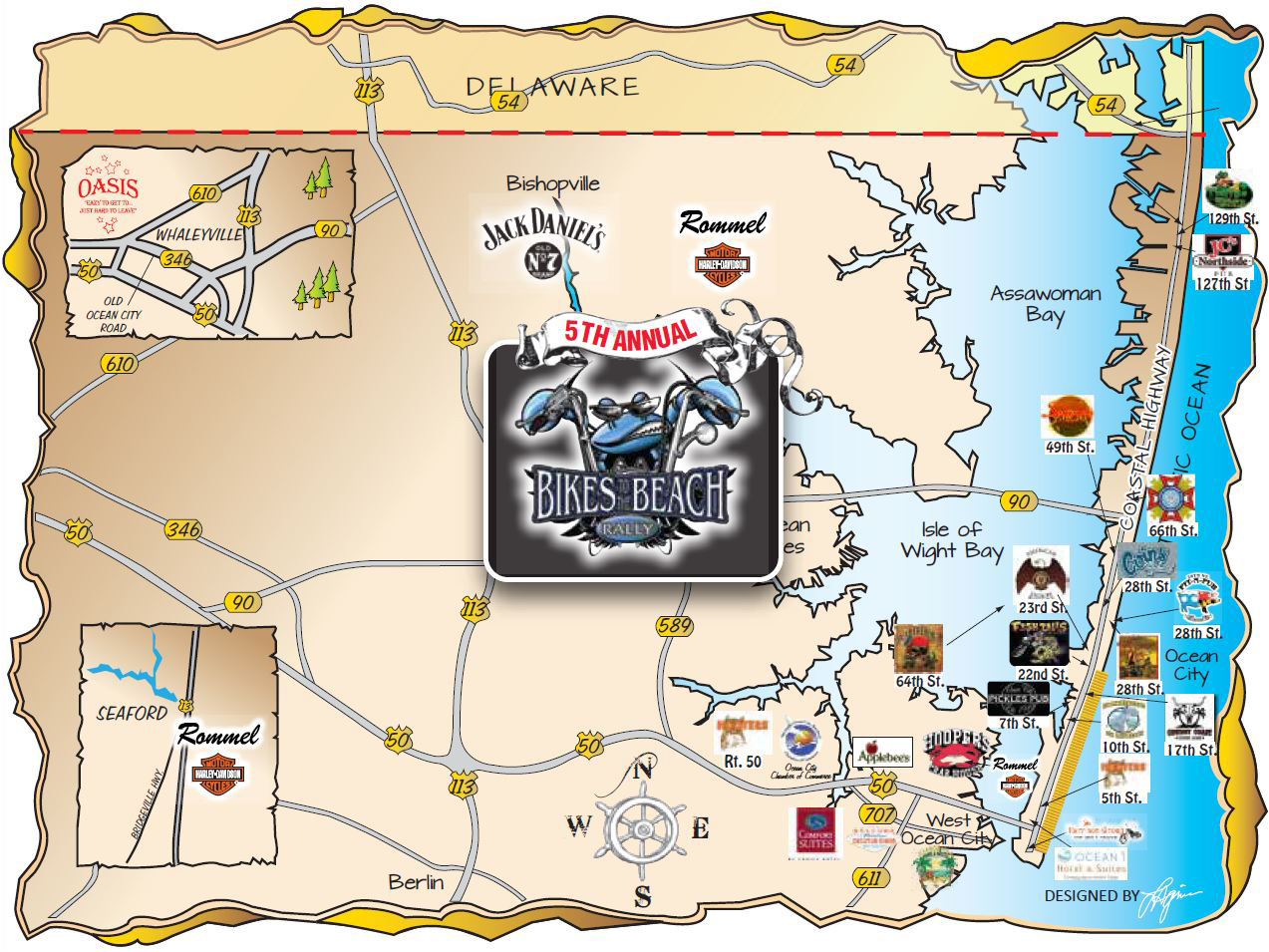 Bikes To The Beach Ocean City 2015 Locations